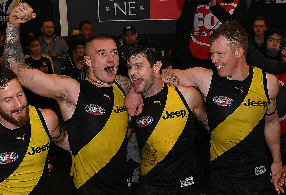 Dustin Martin Trent Cotchin Jack Riewoldt Richmond Tigers AFL 2017