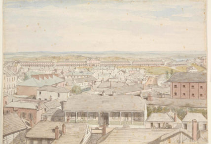 drawing of George St Barracks