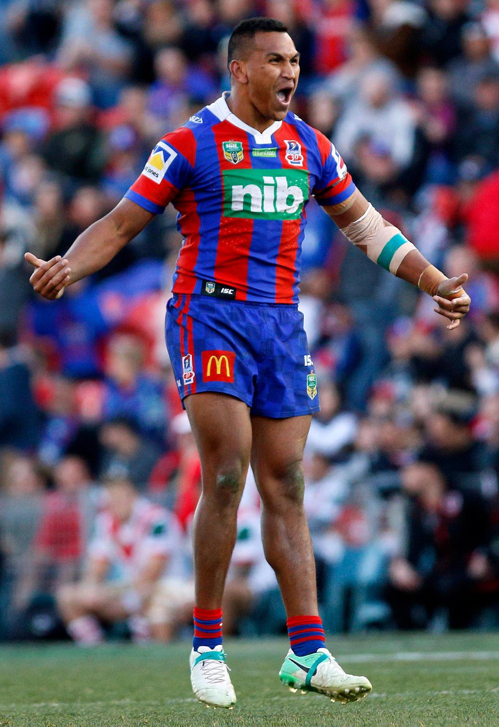 Jacob Saifiti Newcastle Knights NRL Rugby League 2017 tall