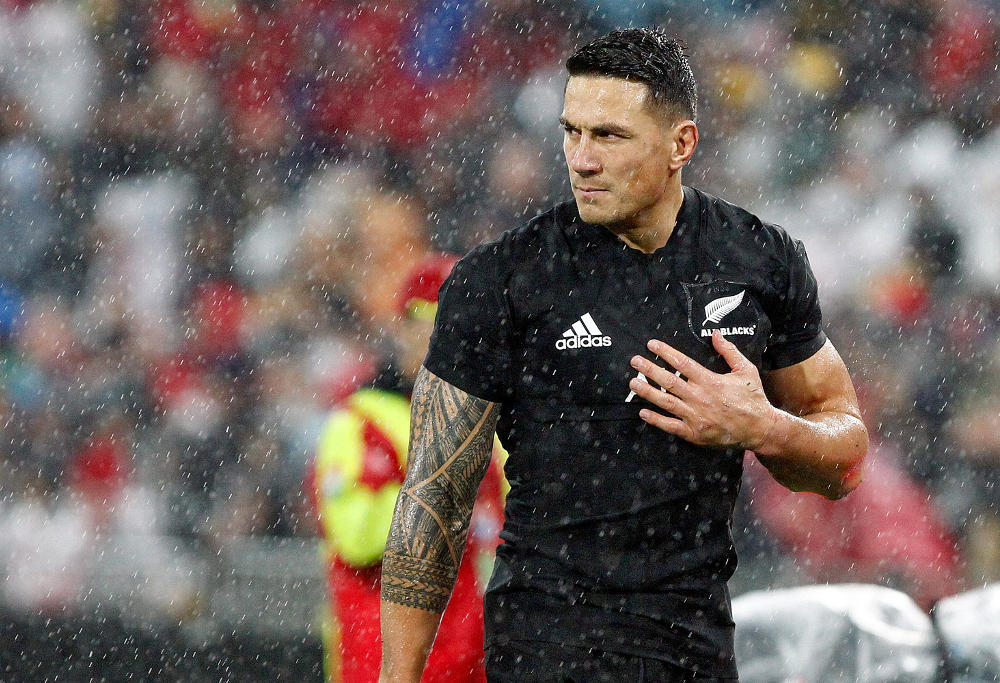 Sonny Bill Williams New Zealand All Blacks Rugby Union 2017
