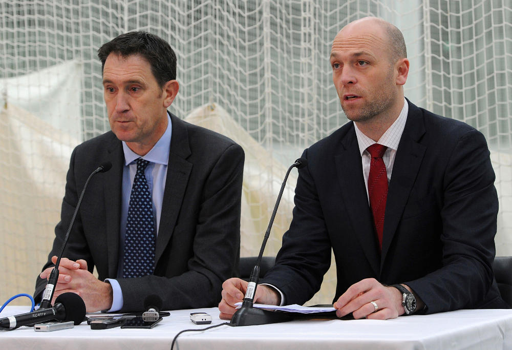 James Sutherland and Alistair Nicholson press conference