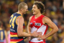 Sam Jacobs Kurt Tippett Adelaide Crows Sydney Swans AFL 2016 <br /> <a href='http://www.theroar.com.au/2017/08/17/the-roars-afl-expert-tips-and-predictions-round-22-2/'>The Roar's AFL expert tips and predictions: Round 22</a>