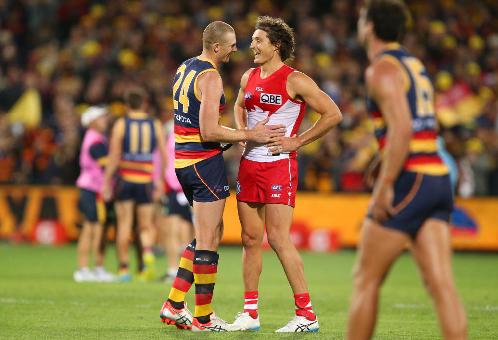 Sam Jacobs Kurt Tippett Adelaide Crows Sydney Swans AFL 2016
