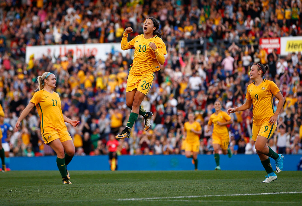 Sam Kerr Matildas Australian Football 2017