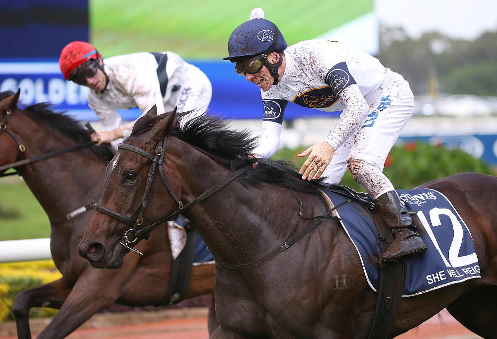 She Will Reign passes the post for a win.