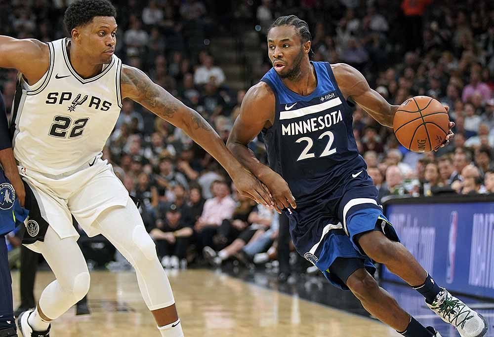 Andrew Wiggins for the Minnesota Timberwolves