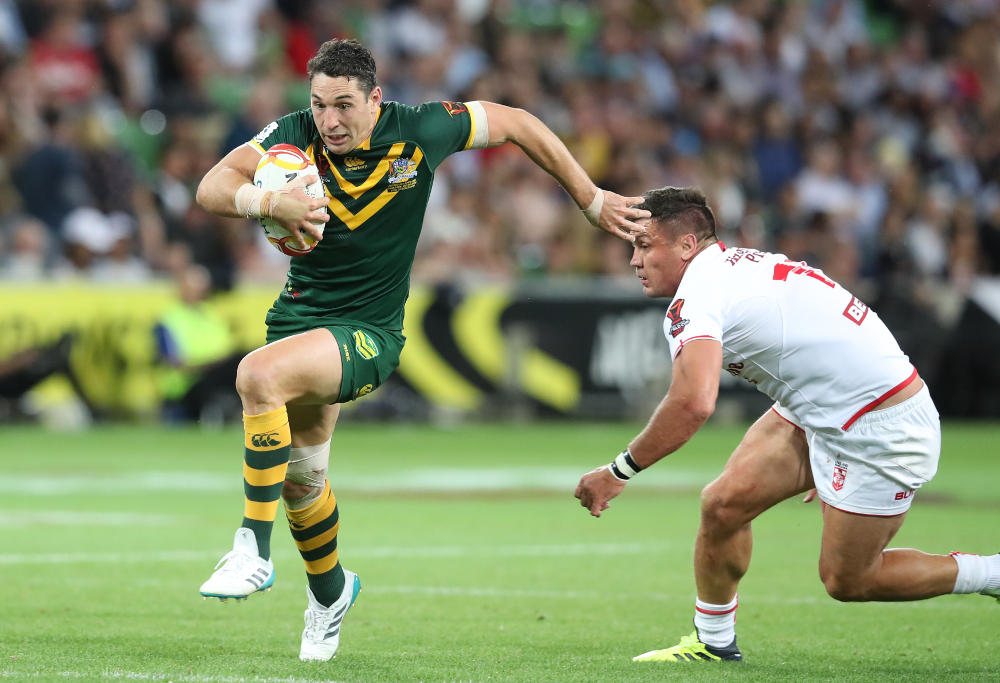 Billy Slater makes a break