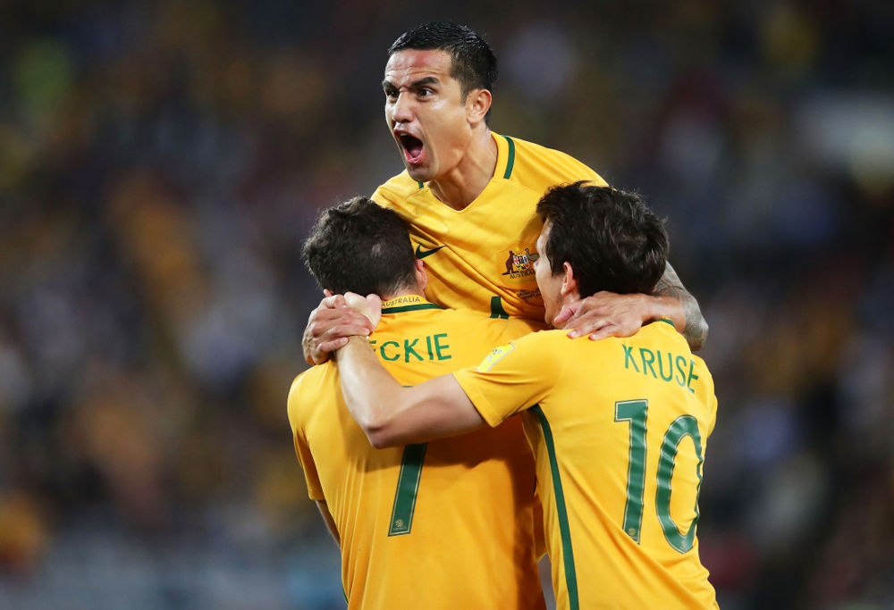 Tim Cahill happy
