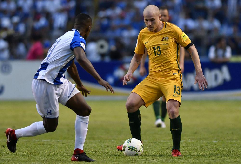 Aaron Mooy for the Socceroos against Honduras