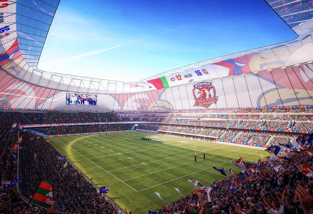 An artist's impression of the Allianz Stadium rebuild