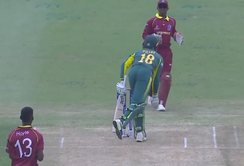West Indies U19s claim 'obstructing the field' scalp